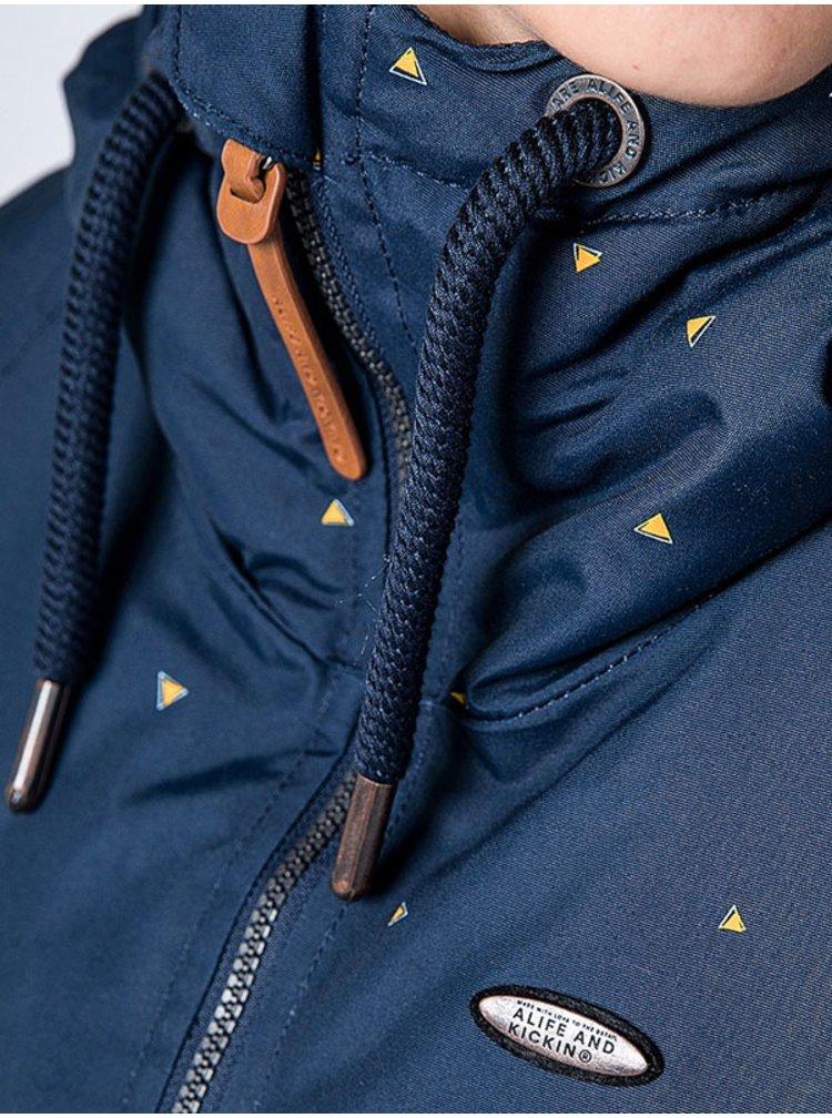 Alife and Kickin LILOU marine AOP podzimní bunda pro ženy - modrá