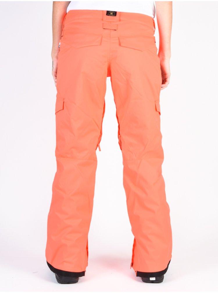 Dc ACE FIERY CORAL dámské zimní kalhoty - růžová
