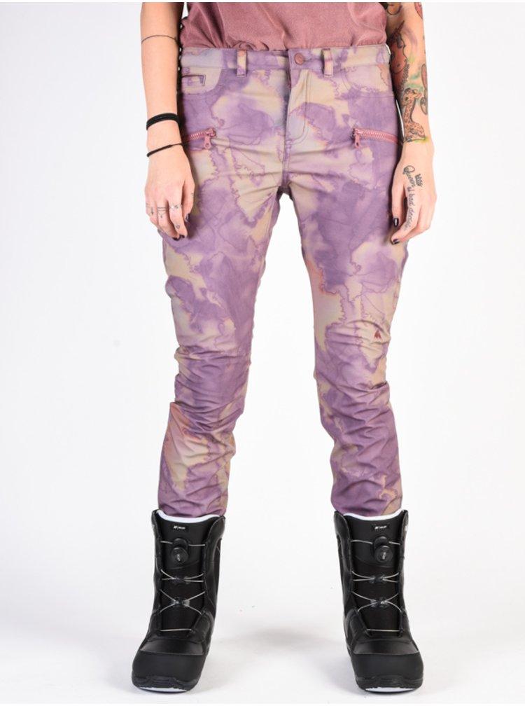 Burton IVY QUARTZ CAMO dámské zimní kalhoty - růžová