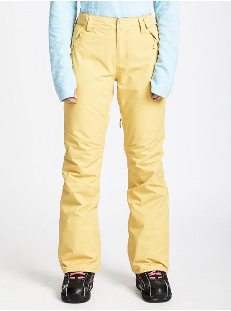 Billabong MALLA RATTAN dámské zimní kalhoty - žlutá