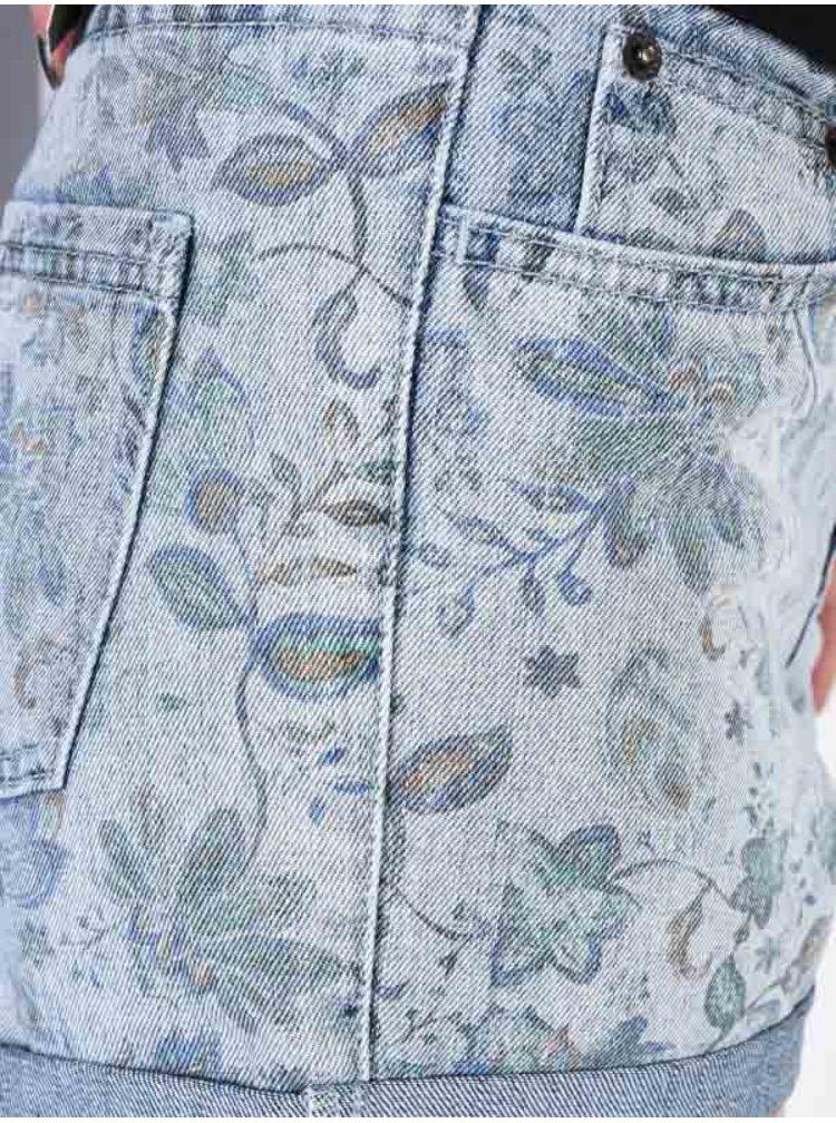 Element ETTA SKY BLUE dámské riflové kraťasy - šedá