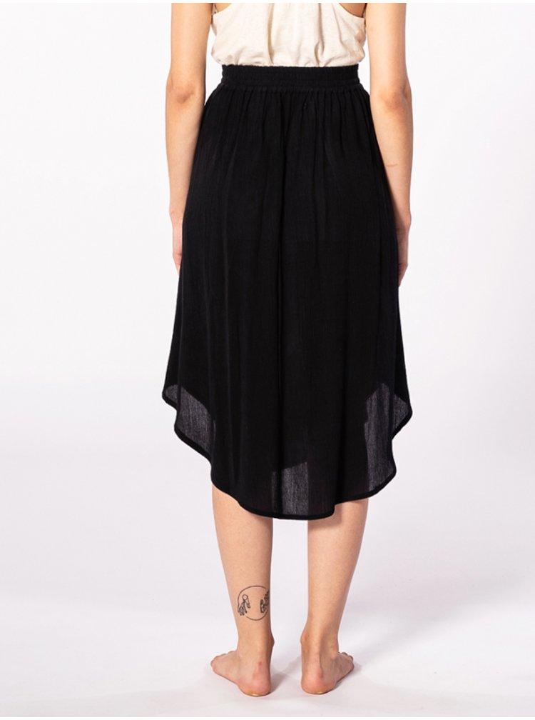 Rip Curl OASIS MUSE black dlouhá letní sukně - černá