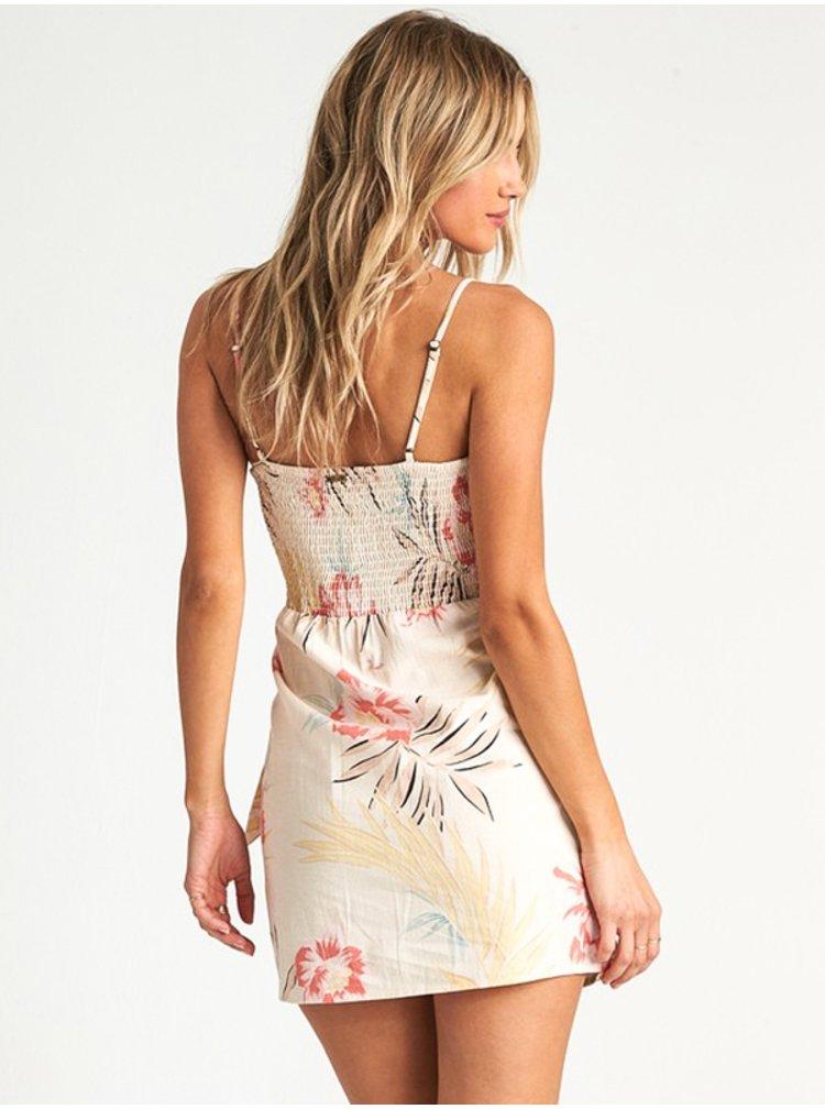 Billabong ISLAND HOPPER WHISPER krátké letní šaty - béžová