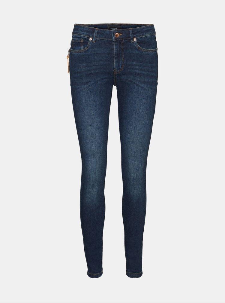 Skinny fit pentru femei VERO MODA - albastru inchis