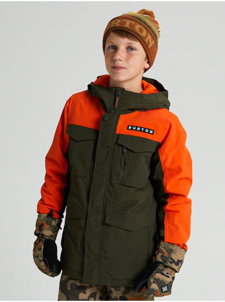 Burton COVERT forest night zimní dětská bunda - hnědá