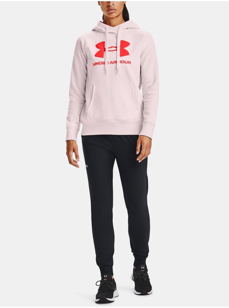 Růžová mikina Under Armour Rival Fleece Logo Hoodie