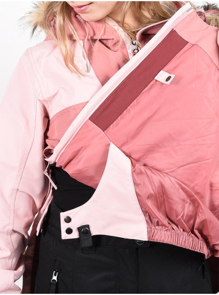 Roxy růžová dámská snowboardová bunda