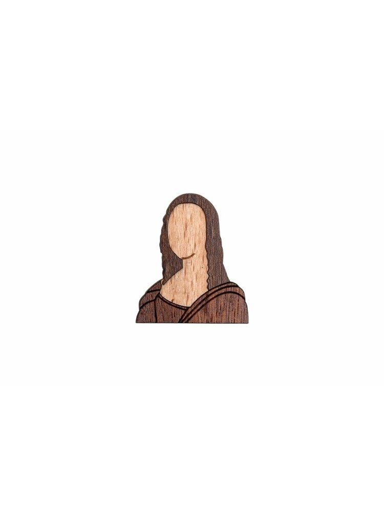 Brož slavné osobnosti ze dřeva BeWooden
