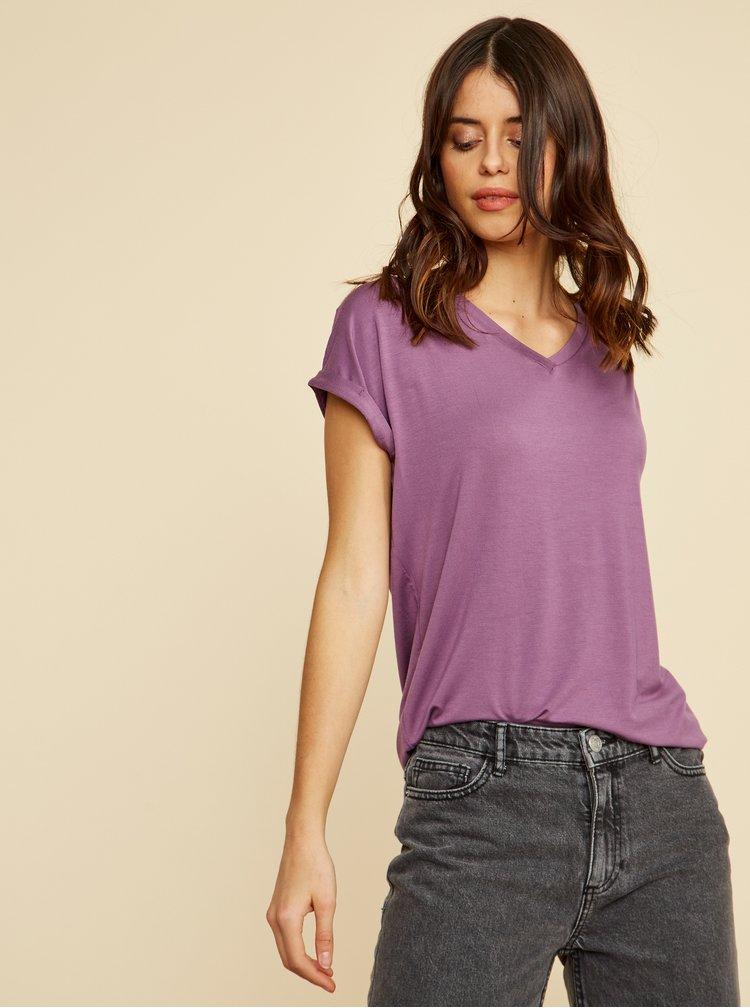 Fialové dámské volné basic tričko ZOOT Baseline Adriana 2
