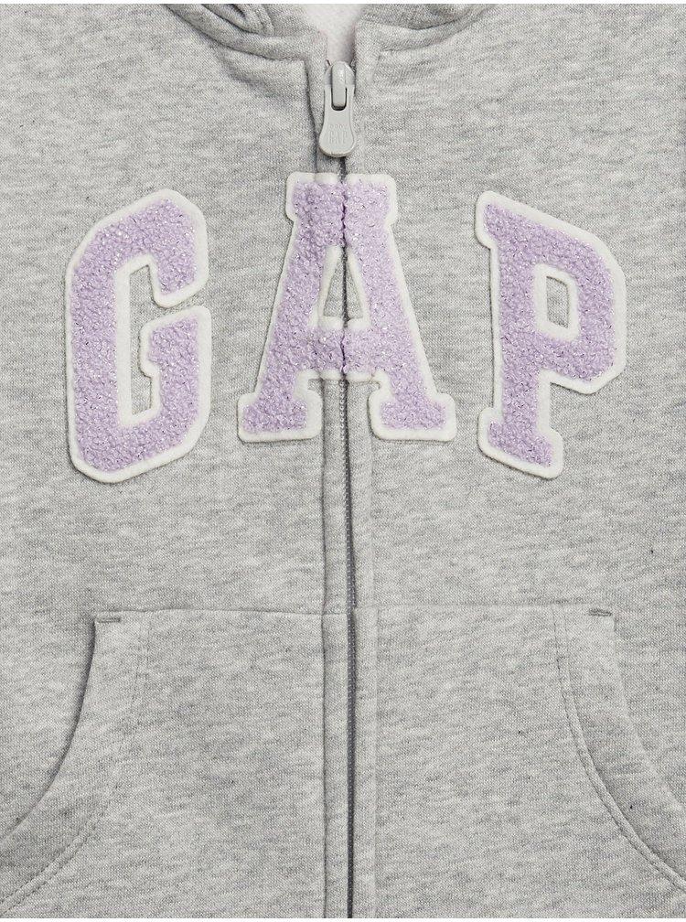 Šedá holčičí mikina GAP