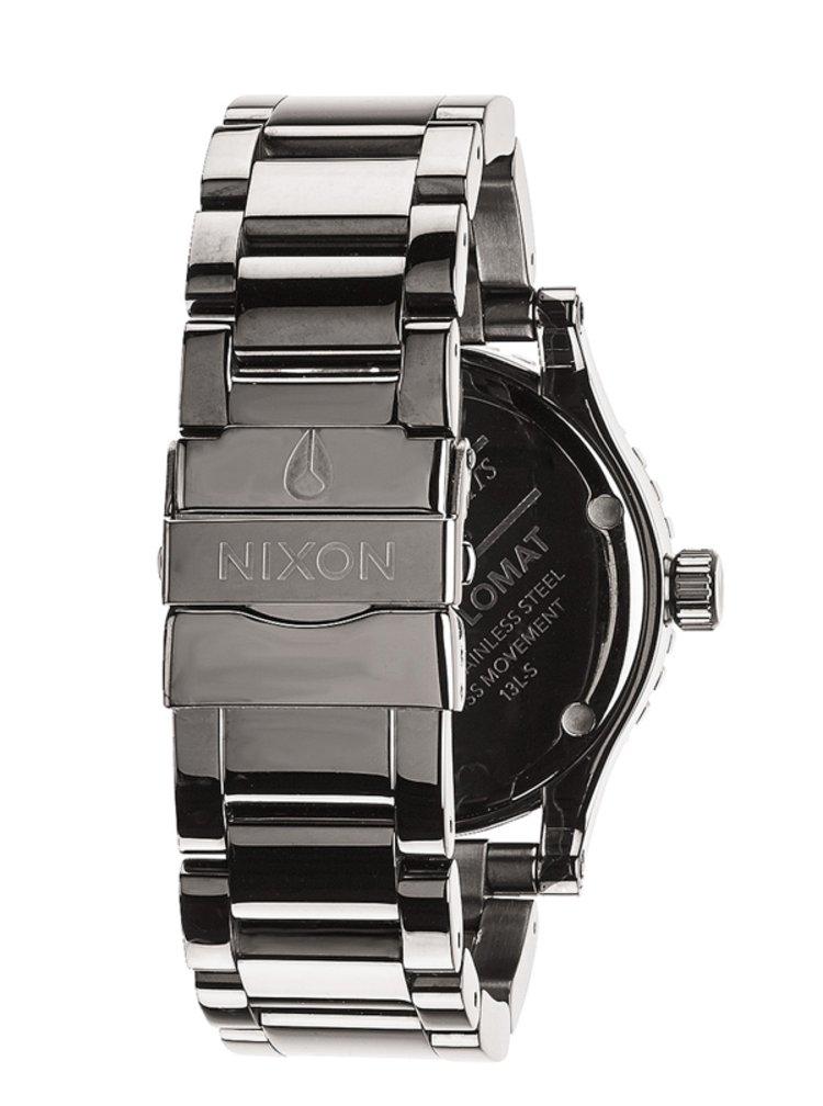 Nixon DIPLOMAT SS POLISHEDGUNMETALLUM analogové sportovní hodinky - šedá