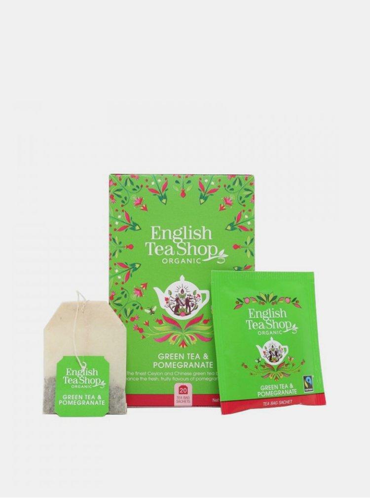 Zelený čaj s granátovým jablkem English Tea Shop 20 ks
