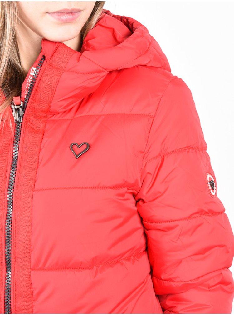 Alife and Kickin JanisAK FIESTA zimní dámská bunda - červená