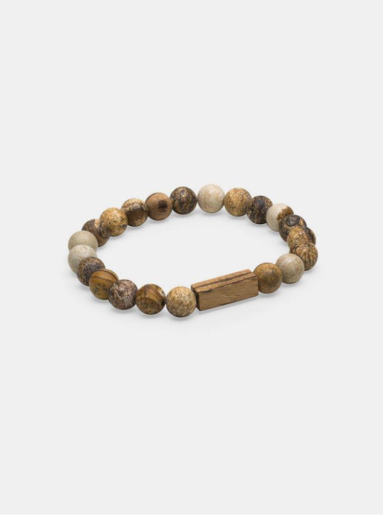 Náramek s dřevěnými korálky BeWooden Corra Bracelet BeWooden