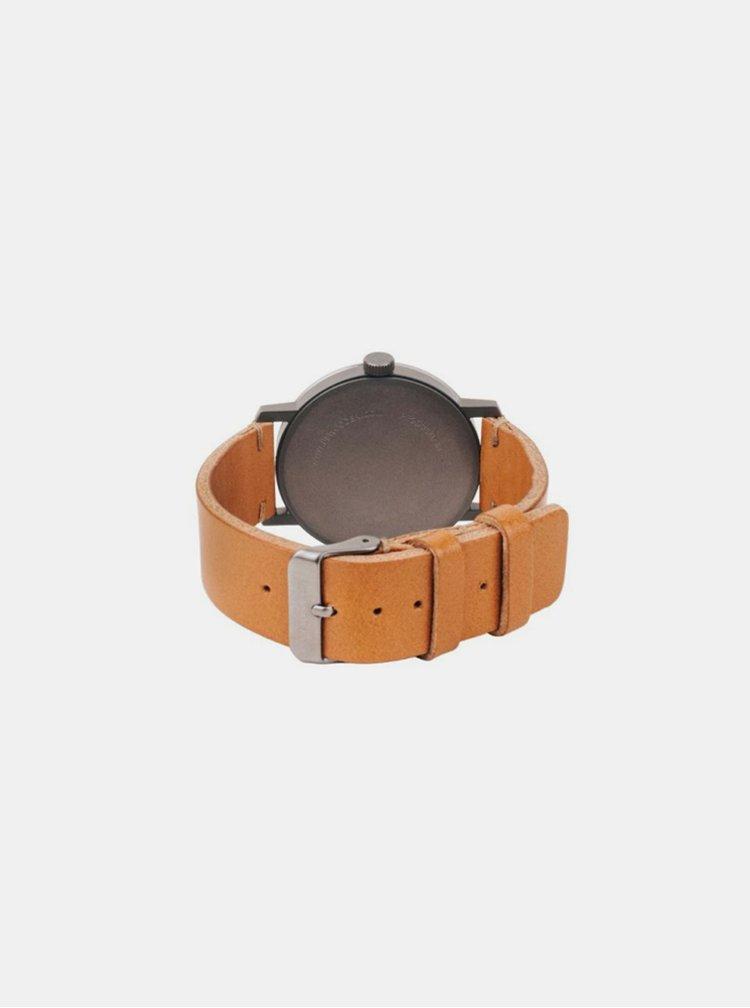 Dřevěné hodinky Sand Watch s řemínkem z pravé kůže BeWooden