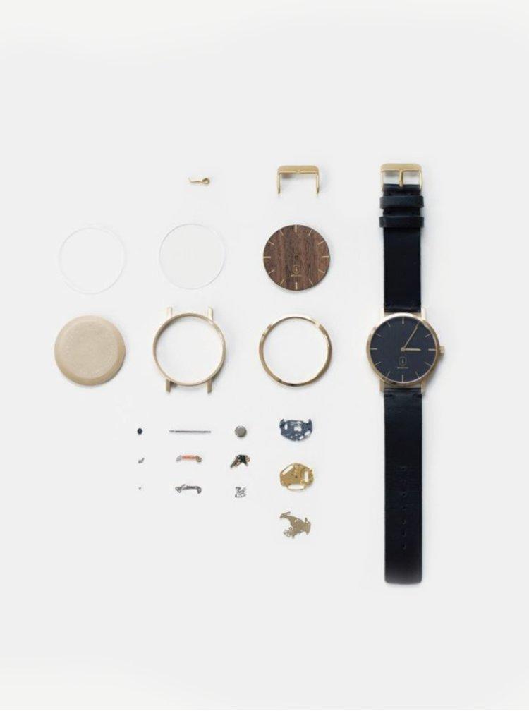 Dřevěné hodinky Rose Watch s řemínkem z pravé kůže BeWooden