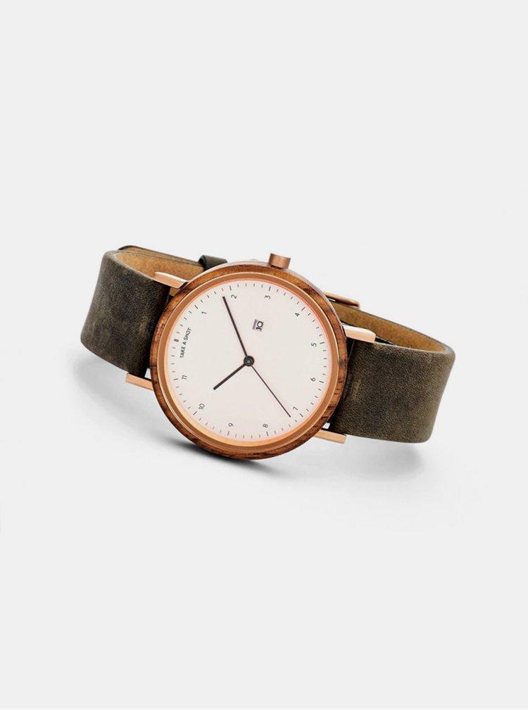 Dřevěné hodinky Margaret Take A Shot