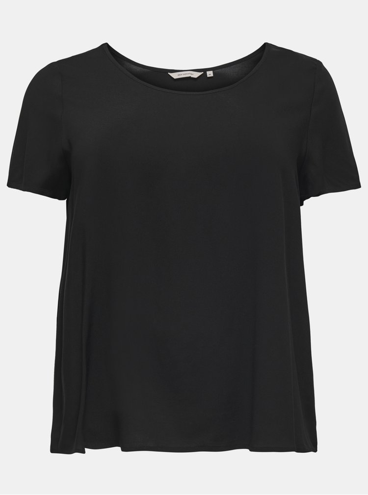Tricouri basic pentru femei ONLY CARMAKOMA - negru