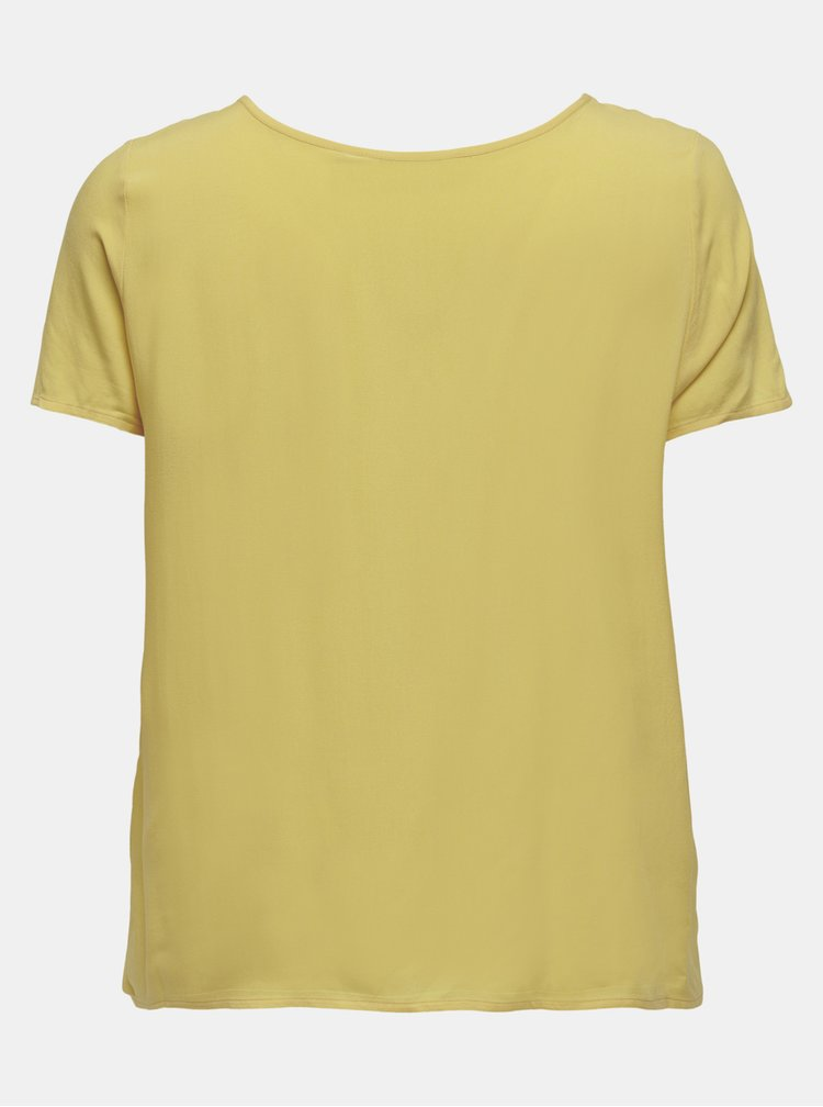 Žluté volné basic tričko ONLY CARMAKOMA Firstly