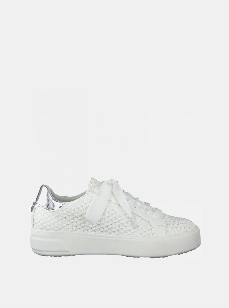 Bílé vzorované tenisky na platformě Tamaris