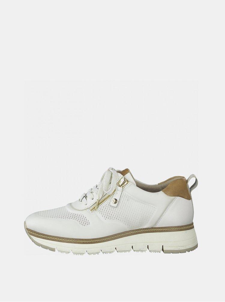 Bílé kožené tenisky Tamaris
