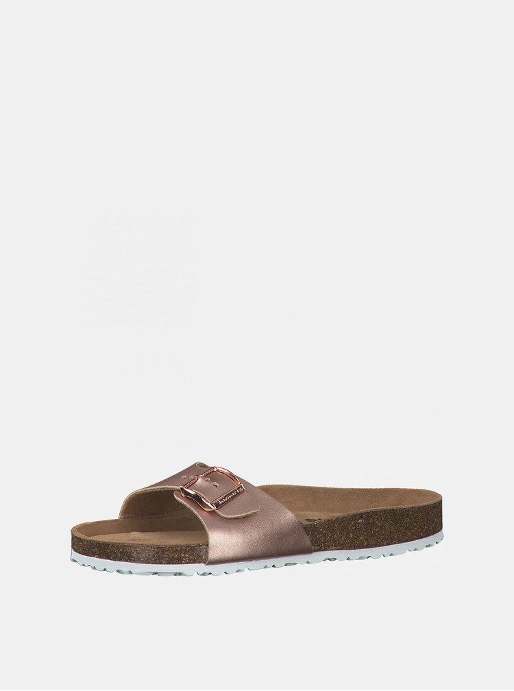 Pantofle v růžovozlaté barvě Tamaris