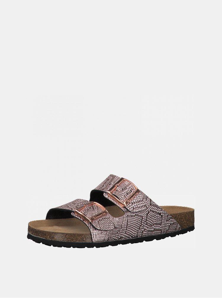 Růžové vzorované pantofle Tamaris