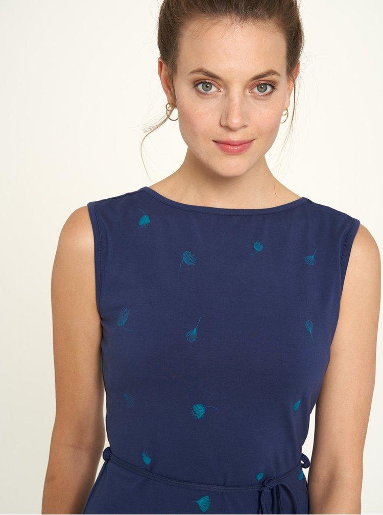 Modré vzorované šaty Tranquillo