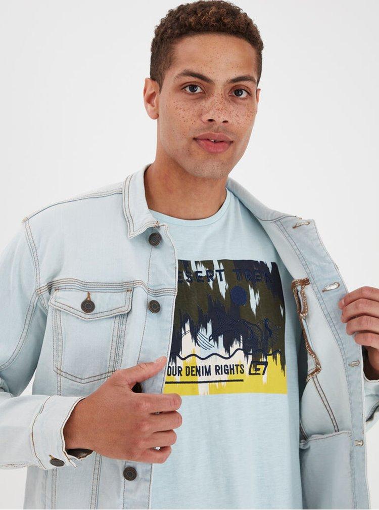 Světle modrá džínová bunda Blend