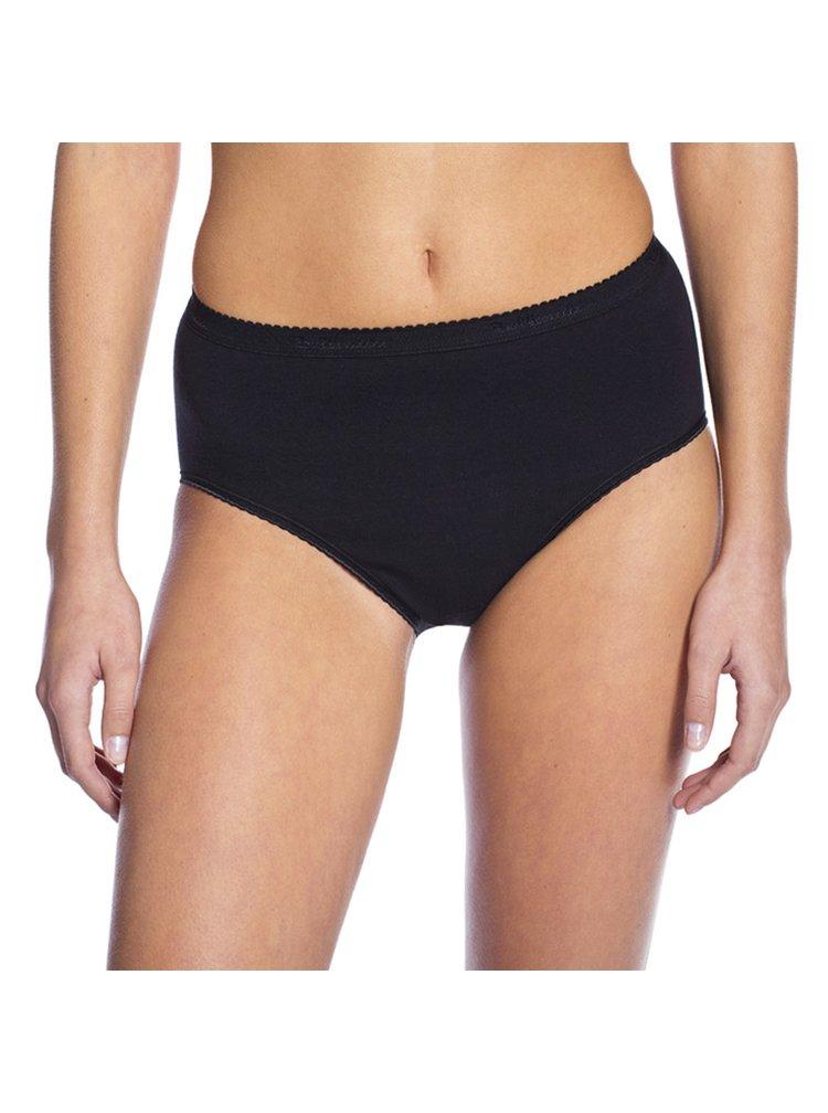 Dámské kalhotky COTTON MIDISLIP - Dámské kalhotky vysokého střihu - černá