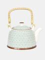 Modro-bílá vzorovaná konvice na čaj Clayre & Eef