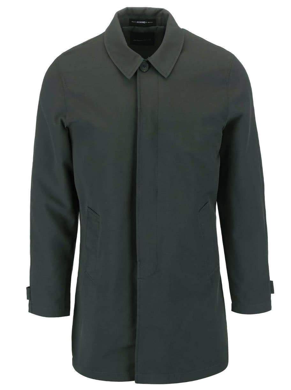 Zelenošedý dlouhý kabát Selected Homme Paris