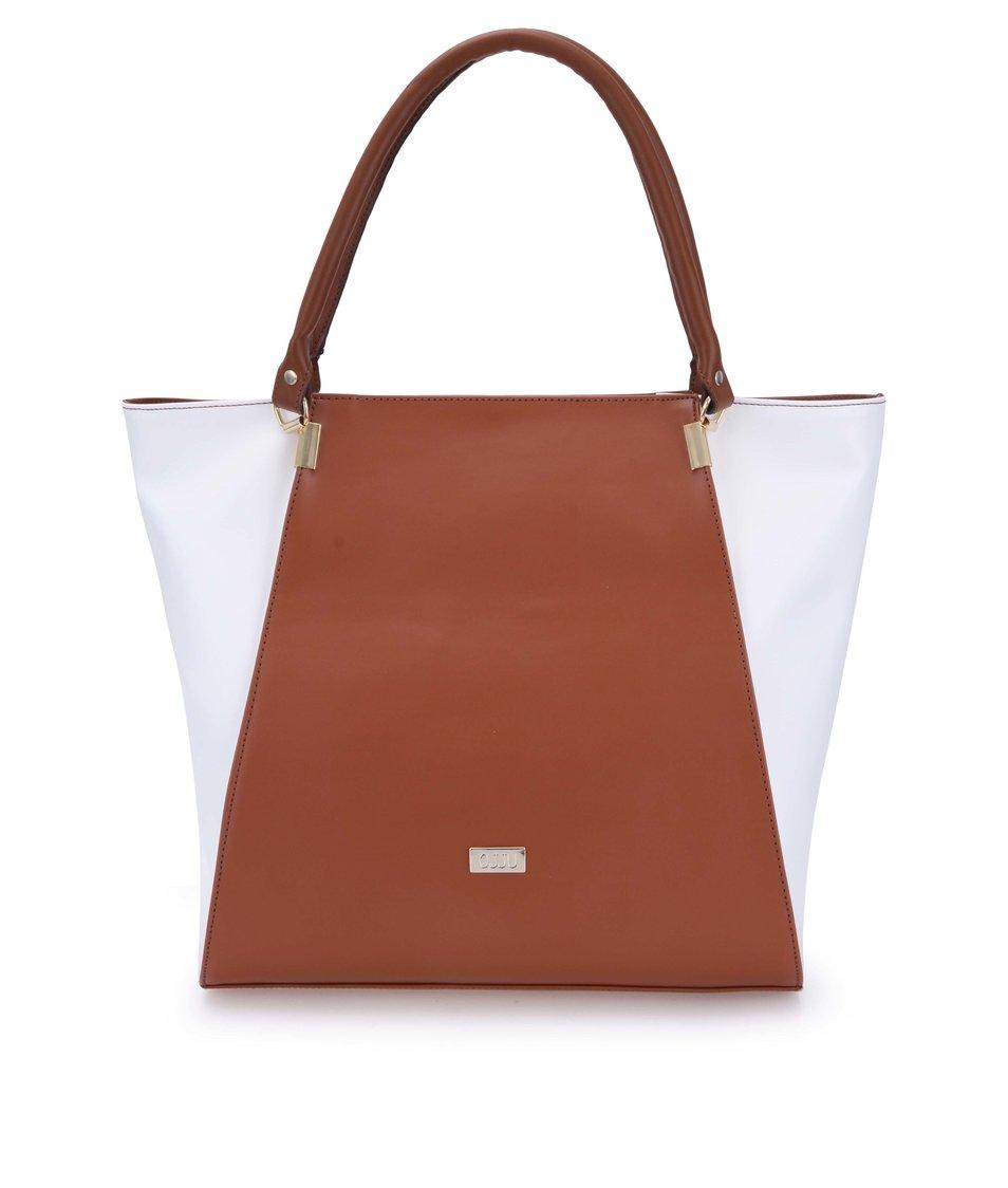 Hnedo-biela kabelka OJJU