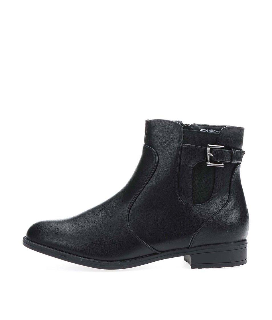 Čierne členkové topánky Pieces Sha