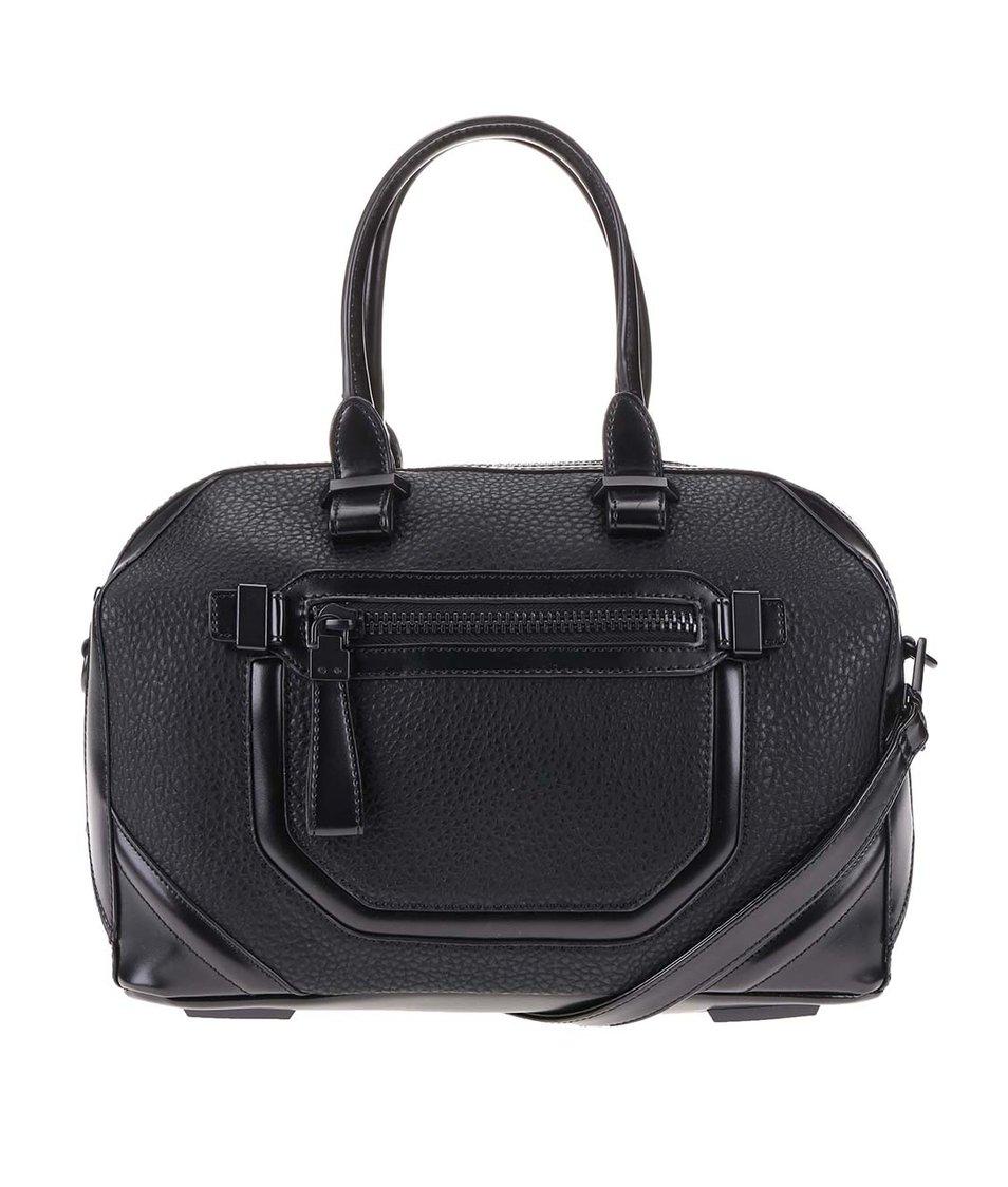 Čierna kabelka s ozdobným vreckom ALDO Domodossola