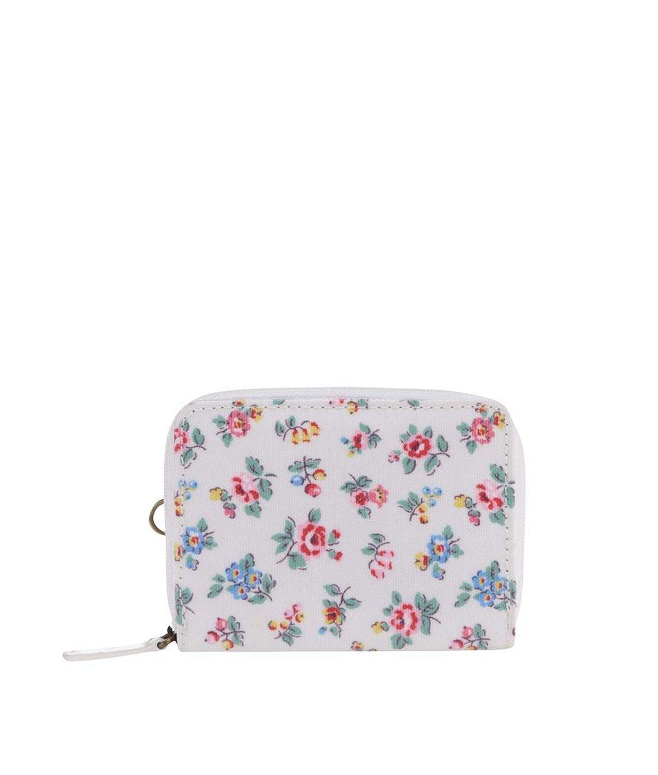 Biela kvetinová malá peňaženka Cath Kidston