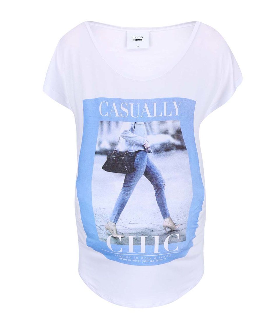 Biele tričko s potlačou Mama.licious Dalla