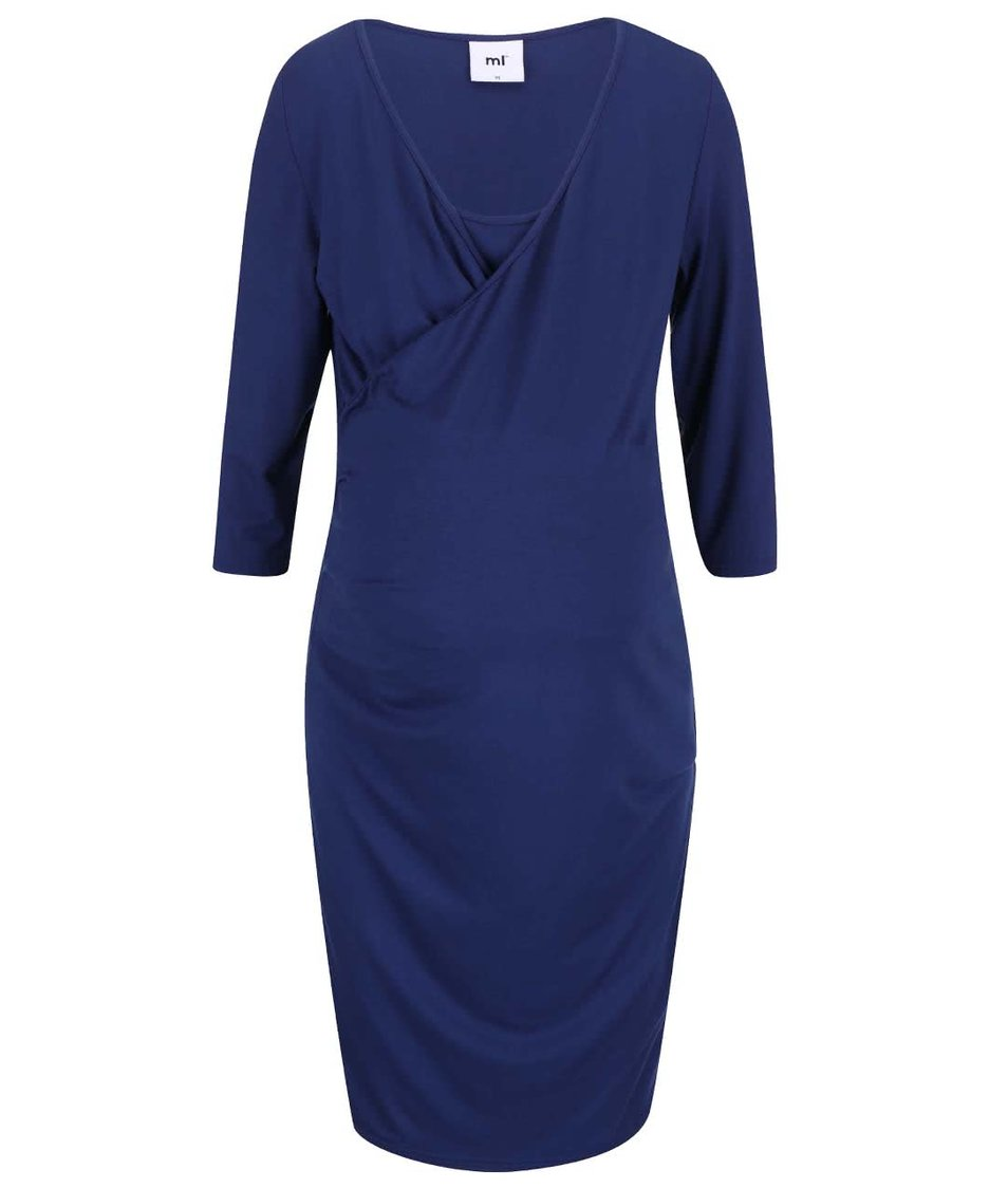 Tmavomodré tehotenské šaty Mama.licious Tess