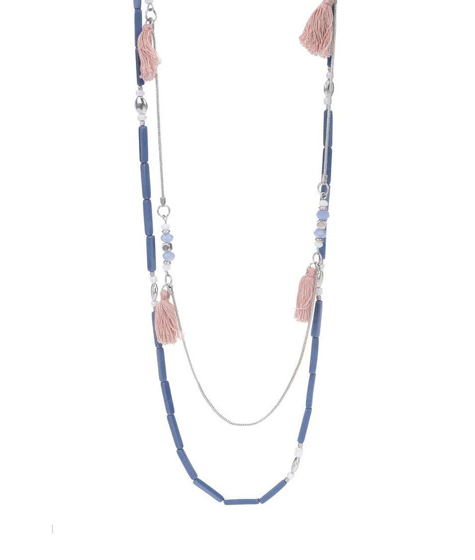 Zľava  Modrý korálkový náhrdelník Pieces Becca
