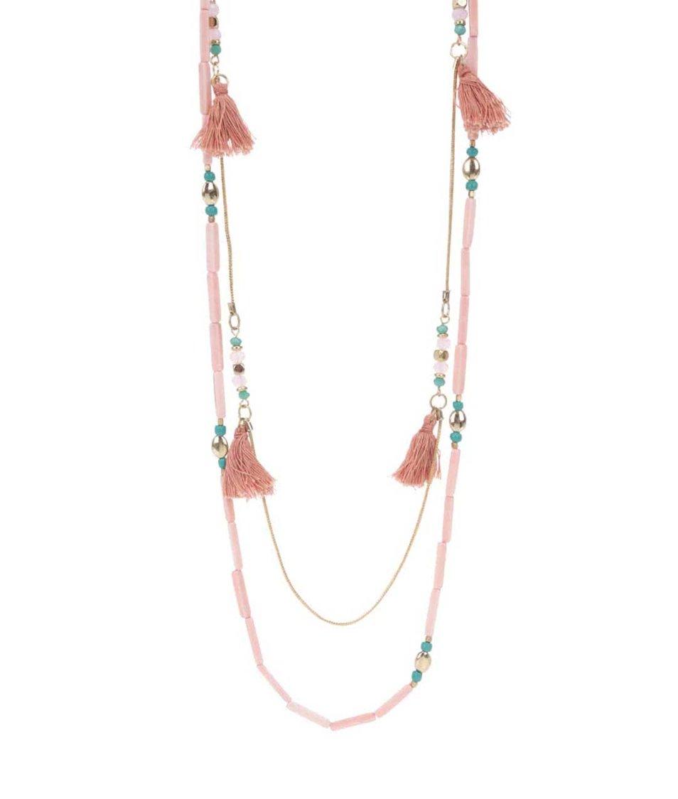 Zľava  Ružový korálkový náhrdelník Pieces Becca