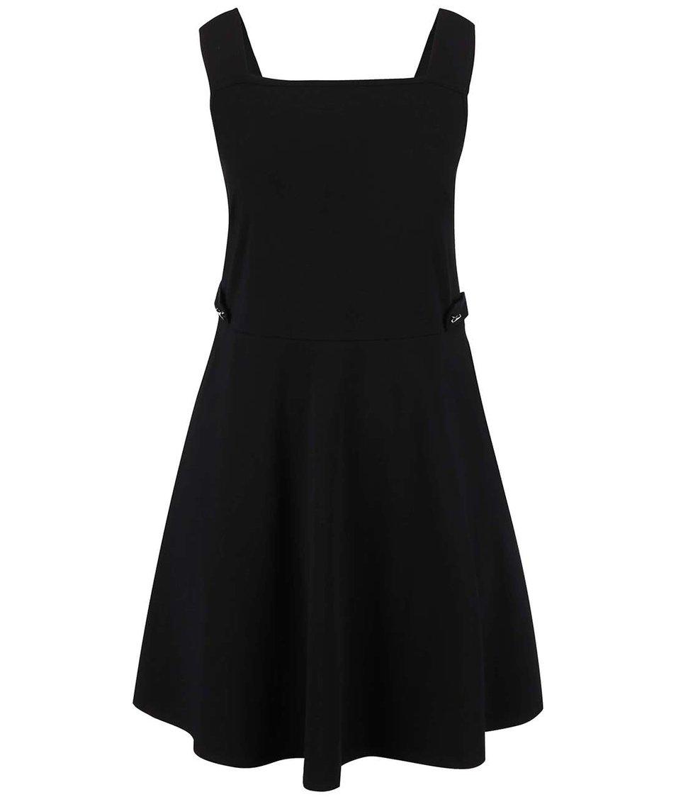 Čierne šaty so širšími ramienkami Dorothy Perkins Curve