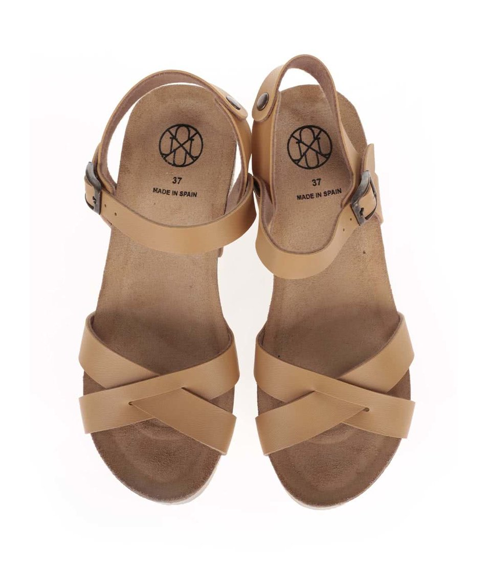 Světle hnědé dámské sandály na platformě OJJU - eleganter.cz 2460898052
