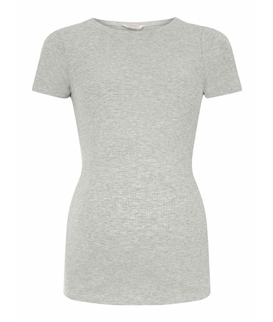 Sivé tehotenské tričko Dorothy Perkins Maternity