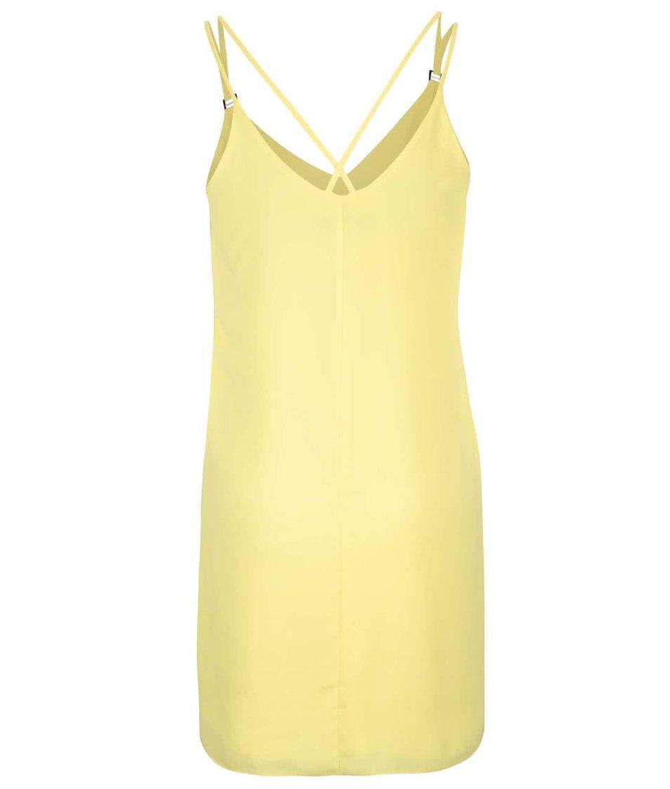 Žlté šaty na ramienka Dorothy Perkins