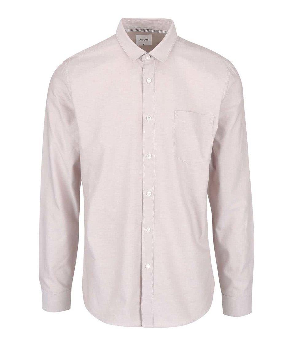 Svetlobéžová košeľa s vreckom Burton Menswear London