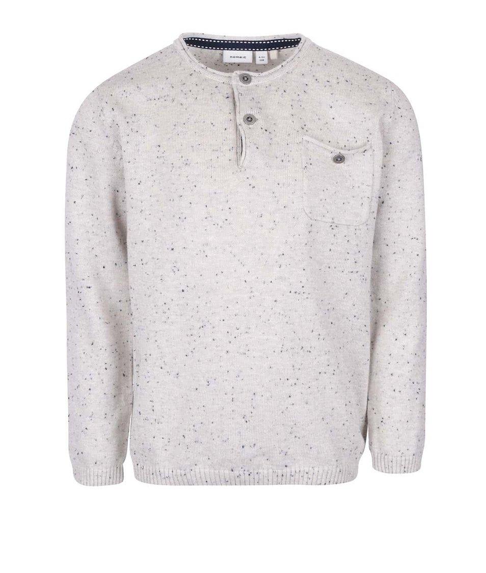 Krémový chlapčenský sveter s vreckom name it Sinis