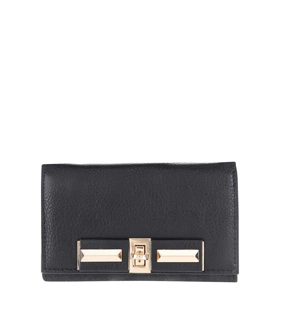 Zľava  Čierna peňaženka s detailmi v zlatej farbe Pieces Penriette