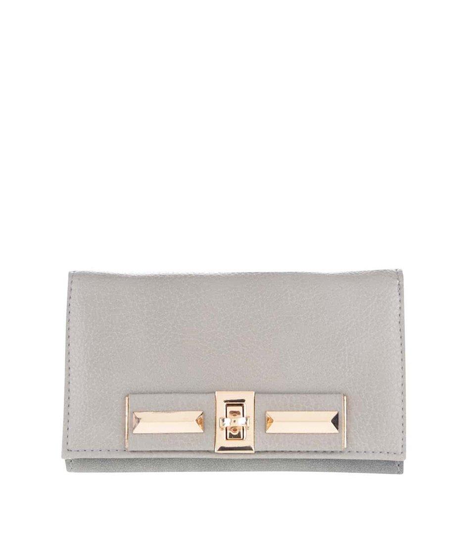 Zľava  Sivá peňaženka s detailmi v zlatej farbe Pieces Penriette