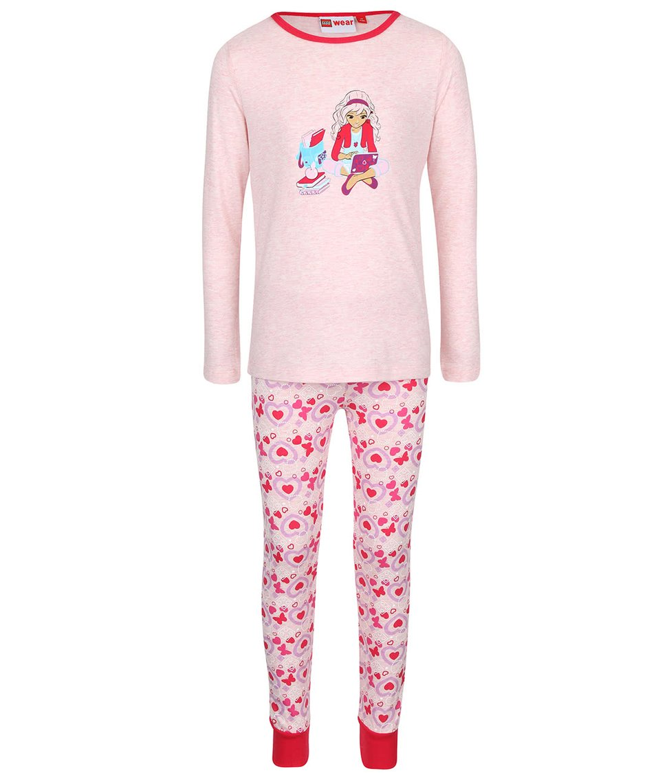 Ružové dievčenské pyžamo LEGO Wear Nevada