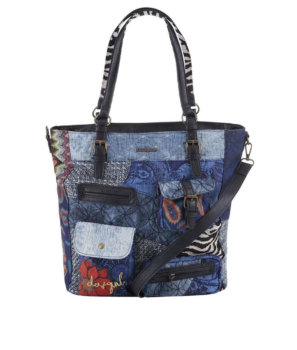 Modrá kabelka s vreckami Desigual Budapest Electra